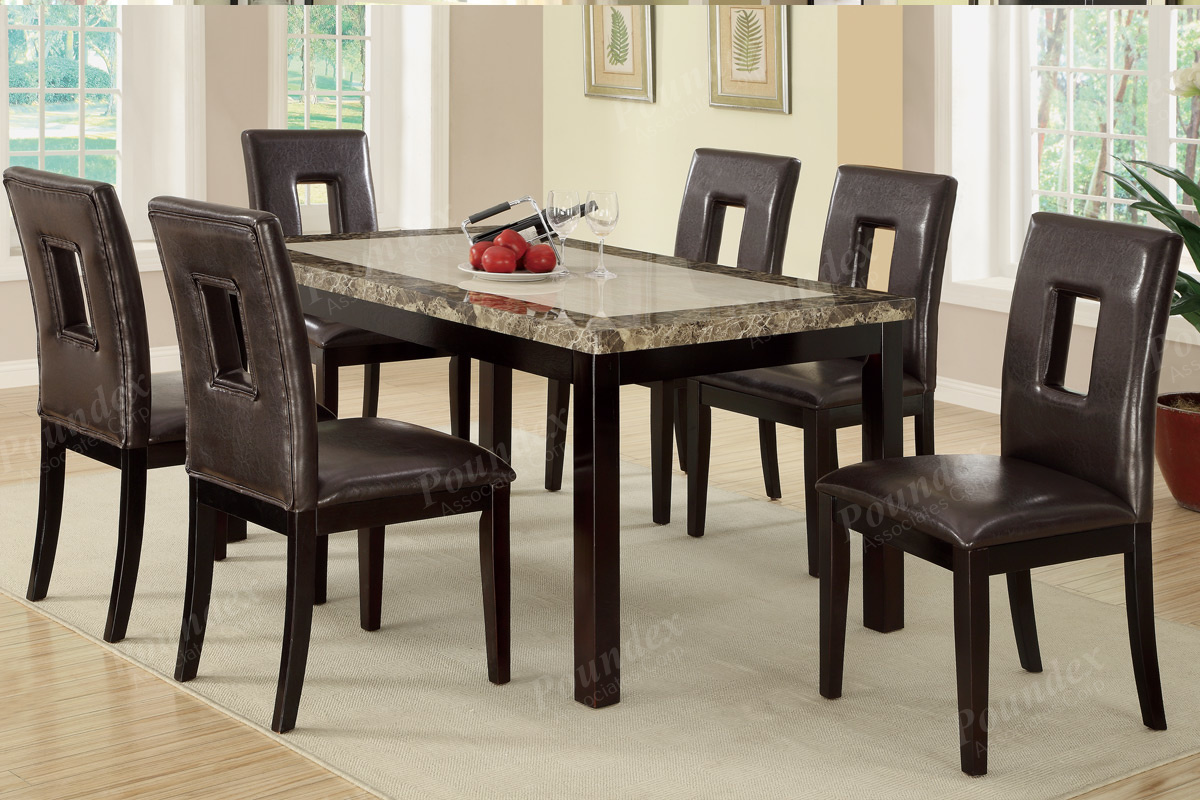 ... Leatherette Chairs Dining Set. F2094