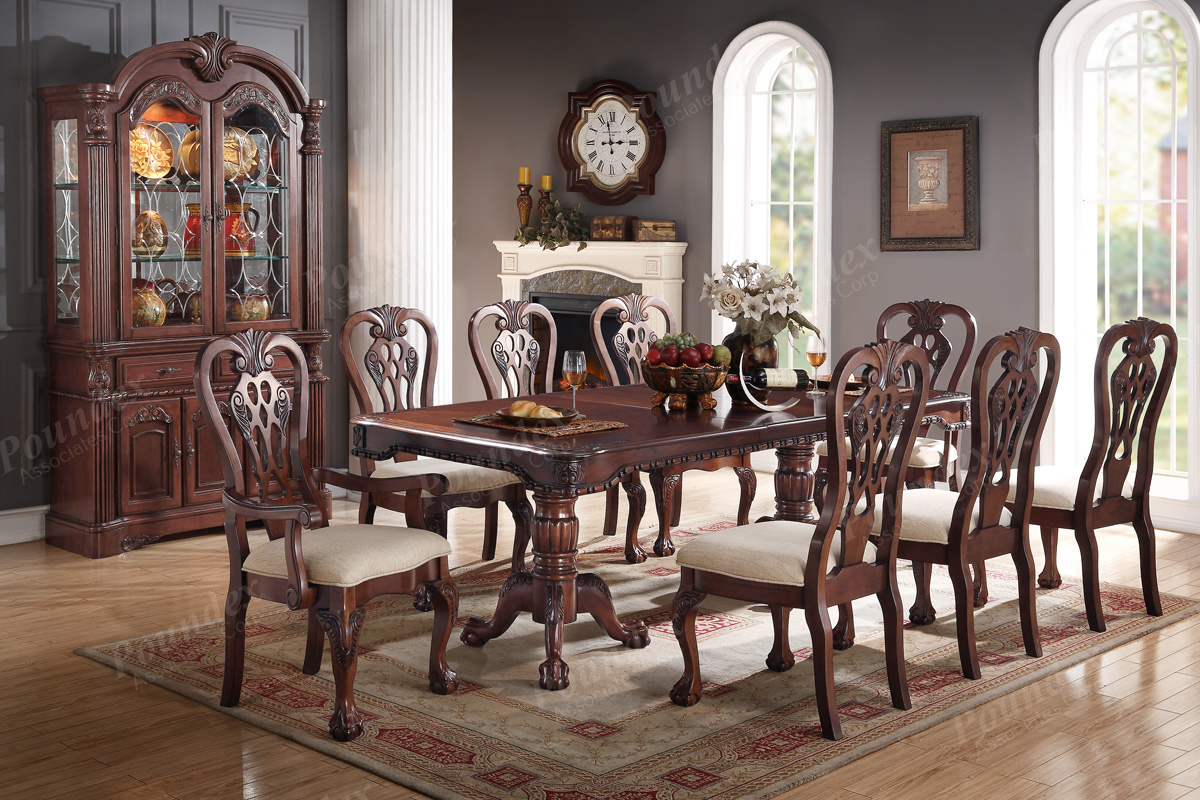 Formal Dining Set In A Cherry Wood Finish Liam Furniture