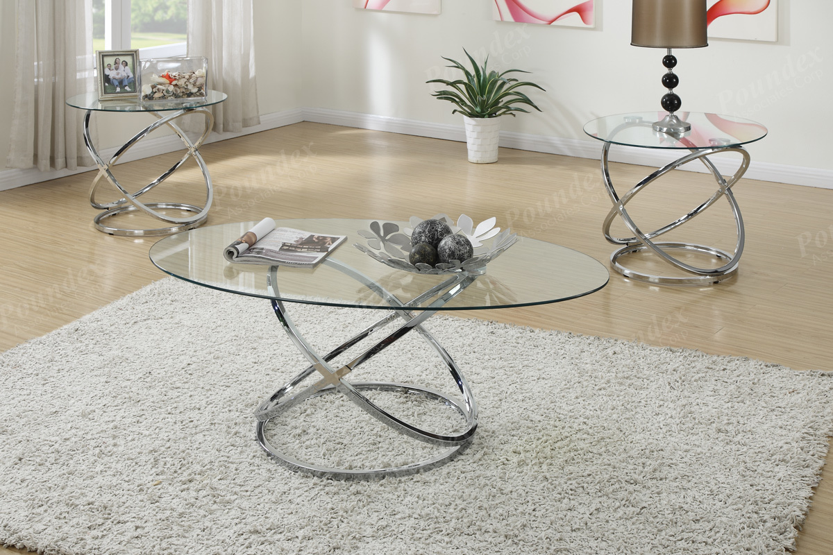 Occasional Table Set with Spinning Circles Design – LIAM FURNITURE ...